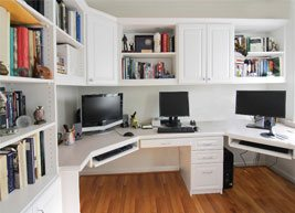 White Home Office with Computer desks