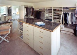 Large room turned into a Custom walk in Closet