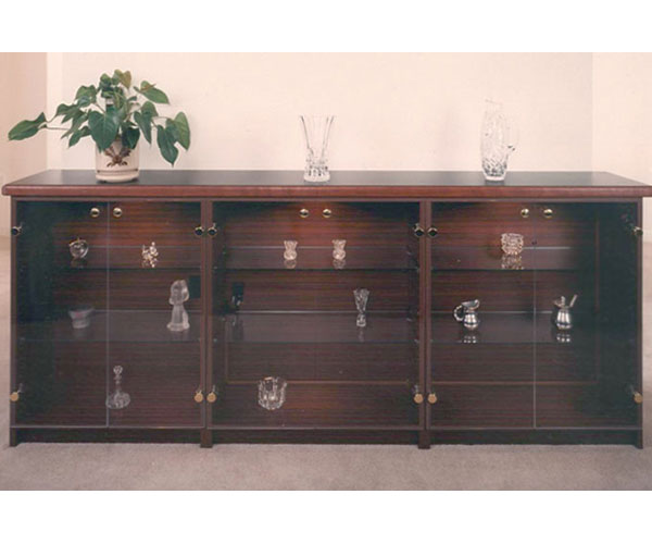 Affordable and practical Glass Cabinets custom made with glass doors