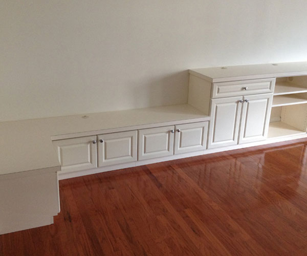 TV Counter and Sitting Bench