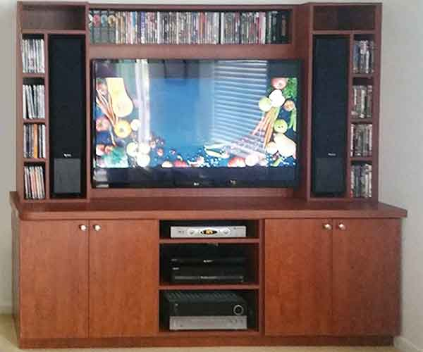 Tv Entertainment Center And Tv Cabinet With Speaker Doors