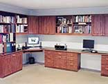 Home office with computer desks