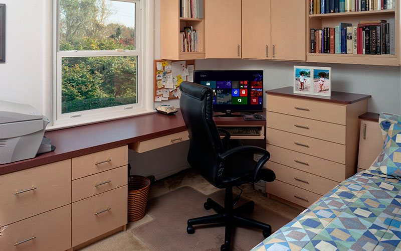 Home office with wall Cabinets