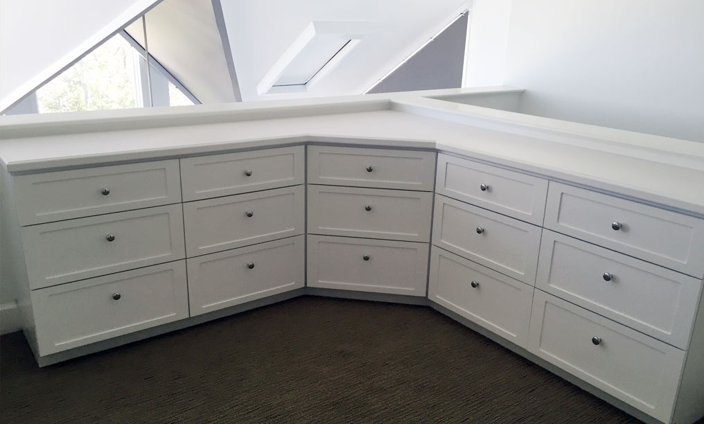 White Base Cabinets with drawers